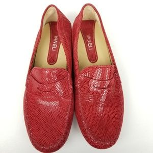 Vaneli | penny loafer | textured red